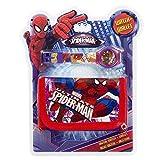 Set orologio digitale Portafoglio Spiderman Marvel