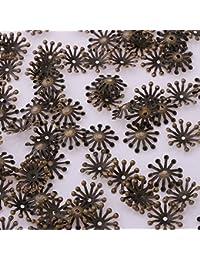 300pcs 14mm Flor Headwear, receptáculo flores pelo joyas, joyería Making
