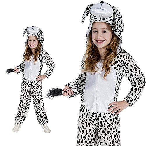 Monster Dalmatiner Hund Wauwau Hündchen Schwarz Weiß Kinderkostüm -