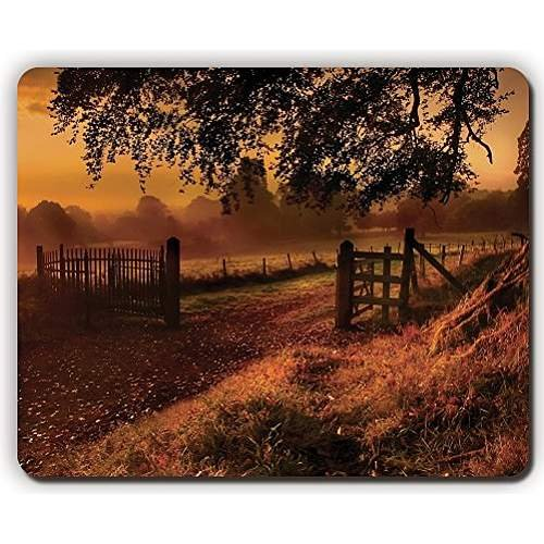 high quality mouse pad,ng gate sun tree leaves earth emptiness,Game Office MousePad size:260x210x3mm(10.2x 8.2inch)