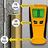 Stud Finder | Wireless Metal Detector And AC Live Wire Multi-Scanner | Multifunctional Wall Scanning Device With LCD Screen | High Precision, Long-Lasting And Lightweight Design