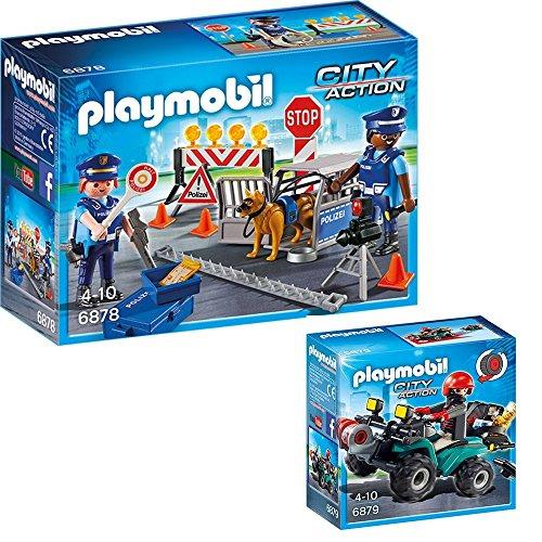 PLAYMOBIL Policia Set: 6878 Control policial & 6879