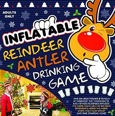 Gonflable Reindeer Antlers potable - Jeux de fête de Noël - Rempli Stocking