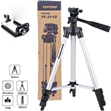 PH Artistic Metal 102cm Long Portable Adjustable Camera Tripod with 3-dimensional Head and Quick Release Plate (One Size, Multicolour)