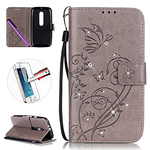 Motorola Moto G 3rd Generation Leather Case G3 Wallet Book