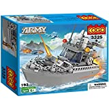#9: Toyshine Army Patrol Boat Building Blocks, Multi Color (193 Count)