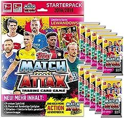Topps Match Attax 2018/19 - 1 Starter + 10 Booster - Deutsch
