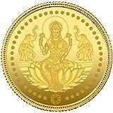 Muthoot Gold Bullion Corporation 24k (999) Goddess Lakshmi 2 gm Yellow Gold Coin