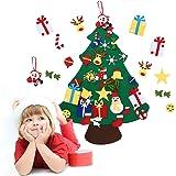 HOBFU - Albero di Natale in feltro con 30 ornamenti, decorazione da parete