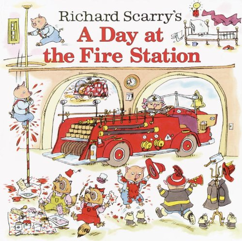 Richard Scarry's a Day at the Fire Station (Pictureback Books)