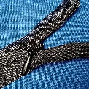 nahtverdeckter Reißverschluss 50 cm schwarz