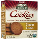 Mary's Gone Crackers Biscuits bio au gingembre - Sans gluten - 156 g (Lot de 6)