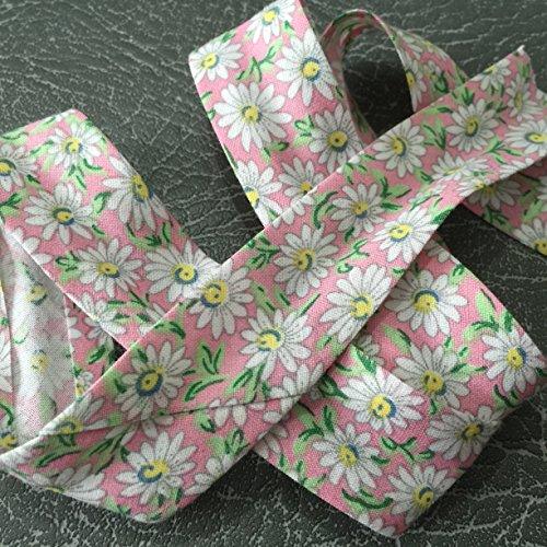 2327colore rosa con motivo di alta qualità Bias Binding 25mm largo 100% cotone con Nice Soft Feel-venduto al metro