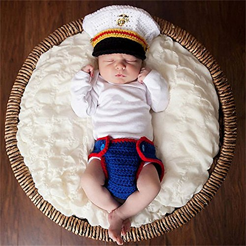 (Swallowuk Baby Strickenkleidung Fotografie Kleidung Foto-Shooting Neugeborene Baby Kostüm Babykleidung (2))