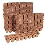 Romberg lot de 48 pots à planter rectangulaire 6 x 6 cm-biolog. 92010 biodégradable