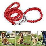 Purebesi Haustier-Zugkraft-Seil 130cm halber P-Kragen-großer Hundehaustier-Zug-Beständiges haltbares Zugkraft-Seil, das runden Gurt-Kragen-Satz für großen Hund webt