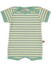 Limobasics - Mono Verano Stripe Mostaza-3-6M, Color Verde, Unisex