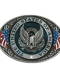 99a616768fa MagiDeal Rétro Boucle de Ceinture Classique Alliage Hawl American Western  Cowboy Cowgirl