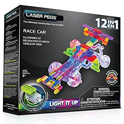 Laser Pegs 12-in-1 Indy Car Construction Set