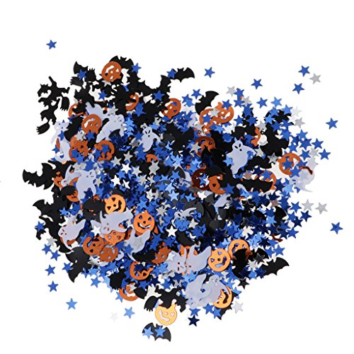 Baoblaze 15g Glitter Bunte Konfetti Streudeko Halloween und Party Accessoires, Verschiedene Muster