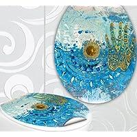 """'Asiento de inodoro pegatinas """"Gold & Diamonds Diseño Pantalla decorativo para inodoro WC incl. 2adhesivo para azulejos"""