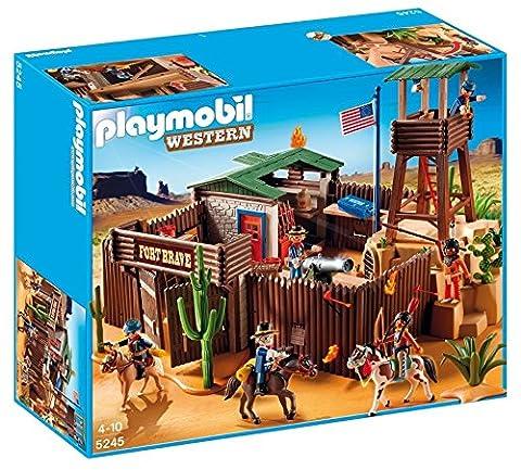 Playmobil - 5245 - Jeu de Construction - Grand Fort des Soldats Américains