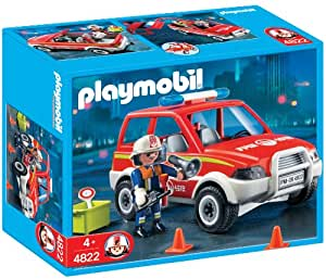 playmobil 4822 jeu de construction voiture de pompier jeux et jouets. Black Bedroom Furniture Sets. Home Design Ideas