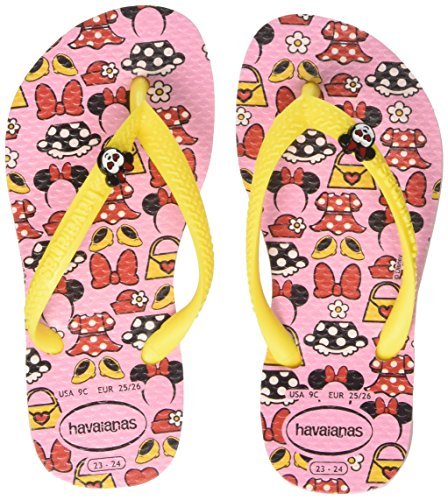 Havaianas Mädchen Kids Disney Cool Zehentrenner, Pink (Pearl Pink), 25/26 (Clearance Disney)