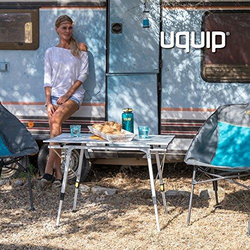 Uquip Variety M Table Pliante en Aluminium pour 4 Personnes (89x53cm) - Hauteur Réglable