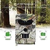 XIAOHUDUI Telecamera Digitale for la Caccia Notturna a Visione Notturna PR-100 Impermeabile Fotocamera da 26 Pollici a infrarossi LED 120 Gradi 12MP Fotocamera Selvaggia