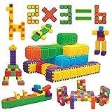WEofferwhatYOUwant Costruzioni a Pettine e Incastro per Bambini - Set 150 blocchi, 6 Colori - Bimbi dai 3 Anni in sù