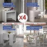 Hogar Decora Mesa de Comedor o Mesa Cocina o Consola, de 50 cm a los 235 cm de Largo en 5 Posiciones