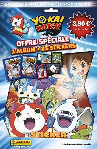 Panini - AS 2225-016 - Yo-Kai Watch - 1 Album et 25 Stickers