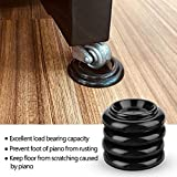 4Pcs Piano Foot Pads, Plastic Pianos Caster Cups Non-Slip Anti-Noise Shoes Leg Pad for Vertical Upright-Piano