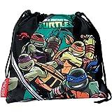 Turtles Sharp–Tasche Kindergartenrucksack, grün und schwarz (Montichelvo 29941)