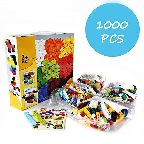 SainSmart Jr.  Bausteine 1000 Teilige Bauspielzeug für Kinder ab 3 Jahren, Tolle Geschenk für Jungen Mädchen