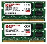 Komputerbay 16GB (2X8GB) DDR3 PC3-12800 1600MHz SODIMM 204-Pin Laptop-Speicher 10-10-10-27 1.5V