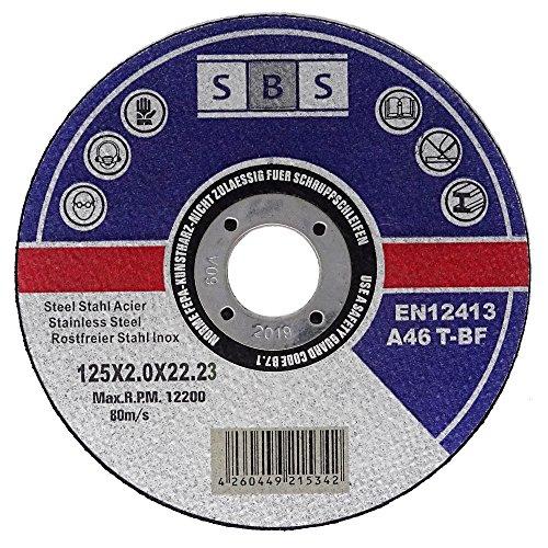25 Stück SBS Trennscheiben 125 x 2,0mm INOX Flexscheibe