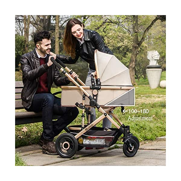 YSH Travel System Baby Stroller Pushchair High View Portable Baby Cart Suitable For Children From 0 To 36 Months /20KG,D-2 YSH Specifications - Stroller for children aged 0-3, standard load capacity 25 kg, maximum load capacity 50 kg, unfolded size 60 x 57 x 100 cm, folding size 80 x 50 x 62cm, net weight 8 kg Function - The stroller can take out the sleeping basket, fold easily, be smaller and easy to carry; adjustable backrest angle can sit or lie flat Features - Stroller can be folded quickly, capacity up to 50 kg / 110 lbs; with shock absorber system for smoother ride, adjustable backrest, comfortable ride, windproof, waterproof, all seasons 2