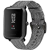for Amazfit Bip Bands,ViCRiOR Premium Canvas NATO Woven Nylon Quick Release Replacement Strap Watch Band for Huami Amazfit Bi