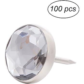 10pcs Crystal//Diamonds Upholstery Nails Tacks Decoration 0.79 x 1.3inch