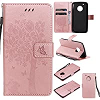 Motorola Moto G5 Plus Hülle Rose Gold im Retro Wallet Design,Cozy Hut Motorola Moto G5 Plus Hülle Leadertasche... preisvergleich bei billige-tabletten.eu