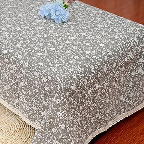 ZHEN Biancheria da tavola piccola grigio floreale , 140*180cm