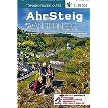 AhrSteig Wandern. Topografische Wanderkarte 1:25000