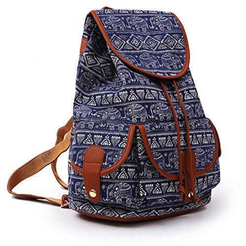 Kword Donna Vintage Canvas Backpack Zaino Cartella Da Scuola Viaggio Modacanvas Zaino Per Le Donne Ragazze Ragazzi Casual Book Bag Sport Pack Giorno O