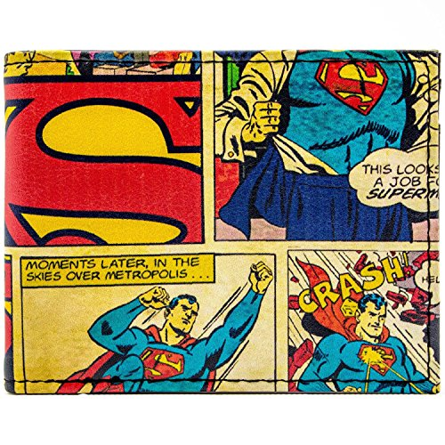 DC Comics Superman Comic-Themed Rot Portemonnaie (Kostüm Dc Neue Superman Comics)