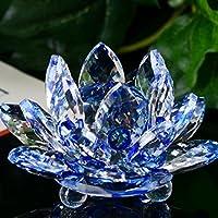 igemy figura de cristal loto flor de loto de cristal pisapapeles adorno