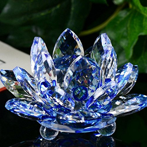igemy crystal figure lotus glass lotus flower paperweight ornament