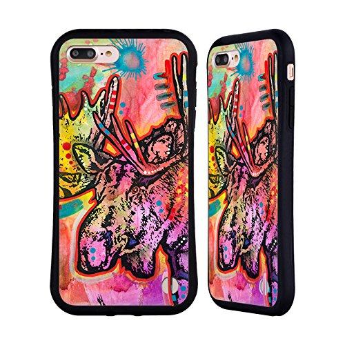 Ufficiale Dean Russo Falco Natura Selvaggia 3 Case Ibrida per Apple iPhone 7 Plus / 8 Plus Alce