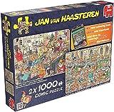 Jumbo Games Jan van Haasteren Happy Holidays Jigsaw Puzzles (2 x 1000-Piece)